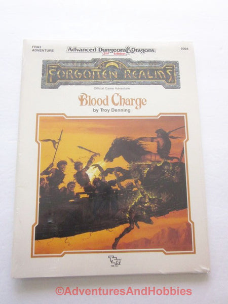 AD&D Forgotten Realms Blood Charge Sealed Shrinkwrap TSR 9304 FRA3 1990 DTi-DS