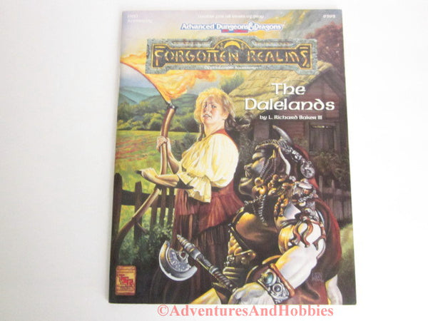 AD&D Forgotten Realms The Dalelands D&D Accessory With Map TSR 9392 1993 BT D&D