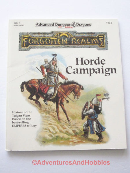 AD&D Forgotten Realms Horde Campaign Accessory FR12 TSR 9324 1991 DTm-D D&D
