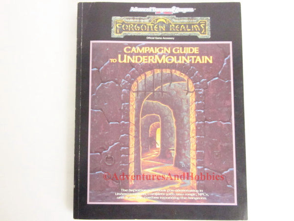 AD&D Forgotten Realms Undermountain Campaign Incomplete TSR 1060 1991BT D&D
