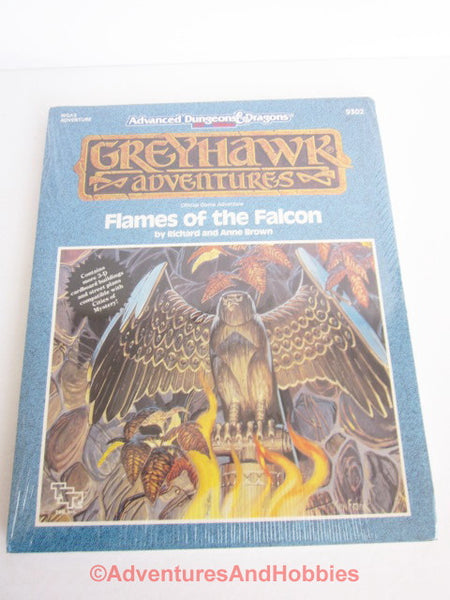 AD&D Greyhawk Flames of the Falcon WGA3 TSR 9302 1990 DTi-D Sealed Shrink D&D