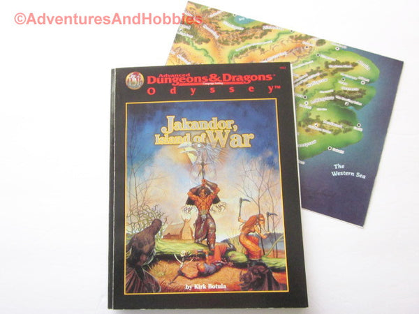 AD&D Jakandor Island of War with Map TSR 9511 1997 DTv-U