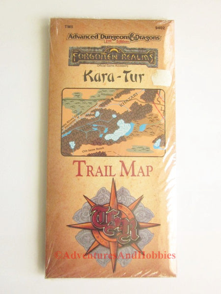 AD&D Forgotten Realms Kara-Tur Trail Map TSR 9402 1989 Sealed GRfS