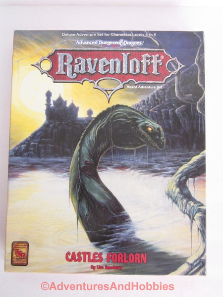 AD&D Ravenloft Castles Forlorn Adventures Box Set TSR 1088 1993 D&D BT-S