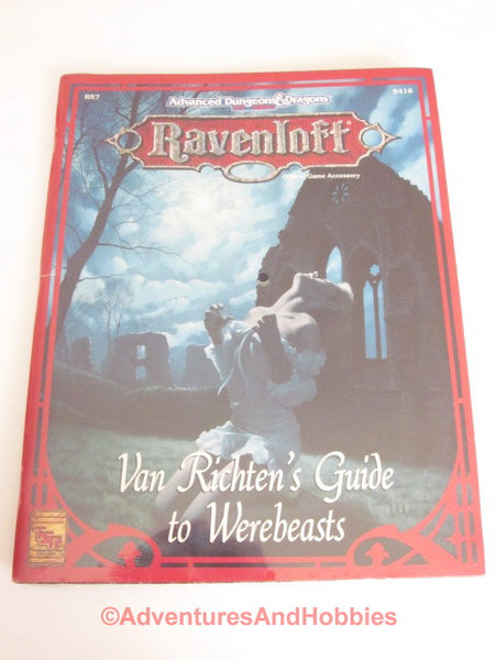 AD&D Ravenloft Van Richten's Guide Werebeasts Sealed Shrink TSR 9416 1993 DTk-D