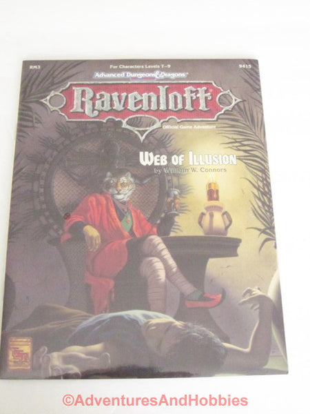 AD&D Ravenloft Web of Illusion RM3 Sealed Shrinkwrap TSR 9415 1993 CTj-S D&D