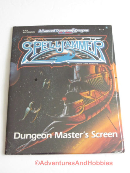 AD&D Spelljammer Dungeon Master's Screen with Ships SJR3 Sealed TSR 9313 DTiC1D
