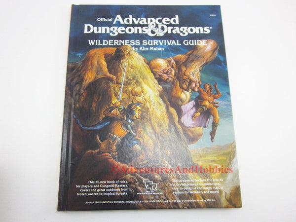 AD&D Wilderness Survival Guide TSR 2020 1986 D&D