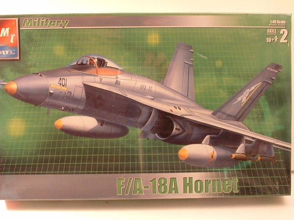 1:48 Modern Jet US F/A-18A Hornet Attack Fighter New AMT Ertl 31786 EB