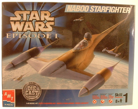 1:48 Star Wars Naboo Starfighter Die Cast Kit AMT Ertl 30130 FA