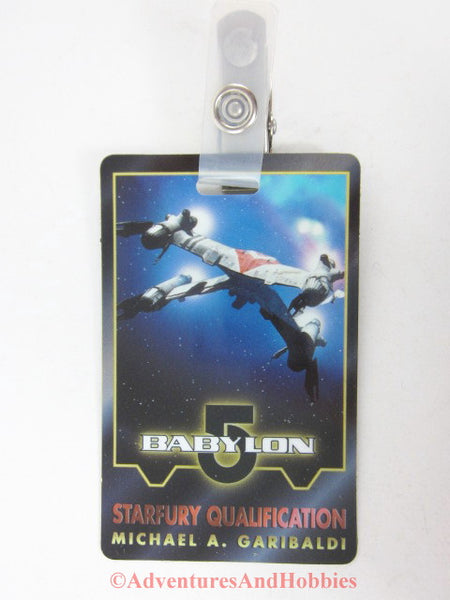 Babylon 5 Michael A. Garibaldi Starfury Qualification Identification Card ID Badge