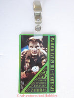 Babylon 5 Zathras Maintenance Permit Identification Card ID Badge Costume B5 1997 BQ