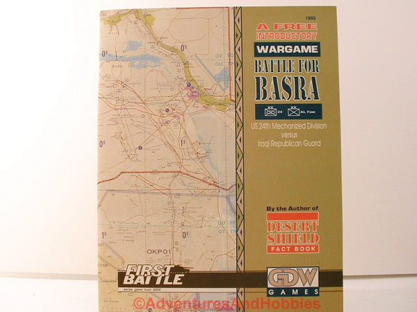 GDW Battle for Basra 1991 Introductory Modern War Game CD-D