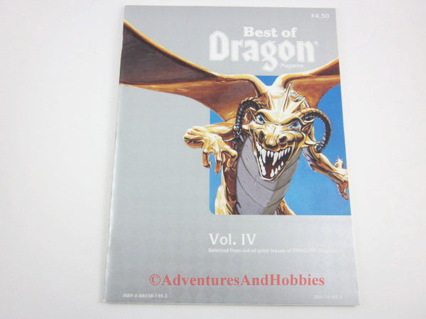 Best of Dragon Volume IV TSR 1985 front cover