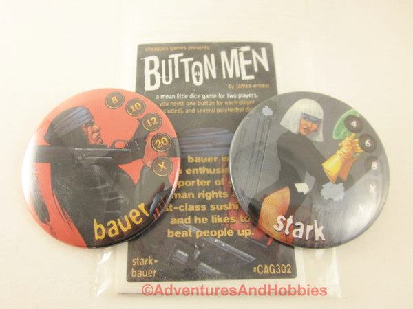 Button Men Dice Combat Game Set 2 Cheapass GN Stark vs Bauer