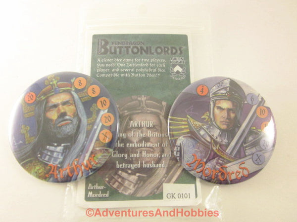 Buttonlords Fantasy Dice Combat Game Set 1 GN Arthur vs Mordred