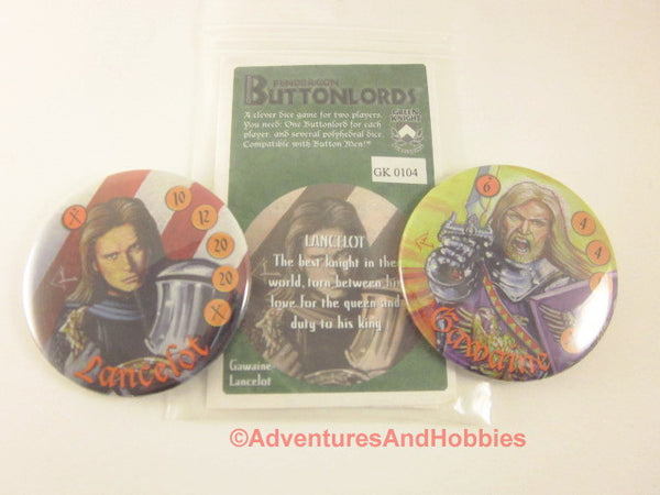 Buttonlords Fantasy Dice Combat Game Set 4 GN Lancelot vs Gawaine