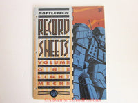 BattleTech Record Sheets Volume 1: Light Mechs FASA 1647