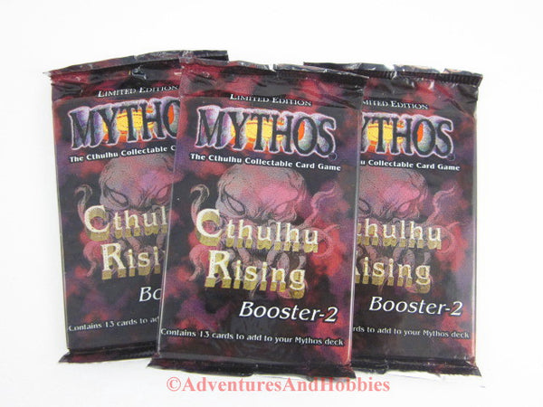 Mythos CCG Cthulhu Rising Boosters Lot of 3 Call of Cthulhu Card Game Chaosium