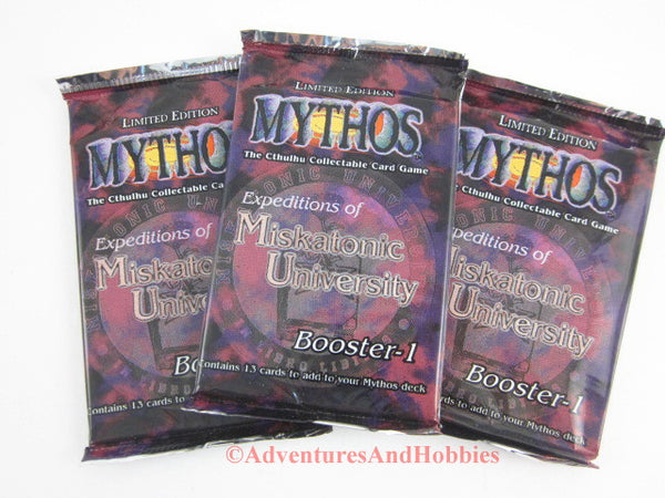 Mythos CCG Expeditions of Miskatonic University Boosters Lot of 3 Call of Cthulhu Card Game Chaosium