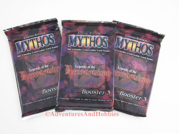 Mythos CCG Legends of Necronomicon Boosters Lot of 3 Call of Cthulhu Card Game Chaosium