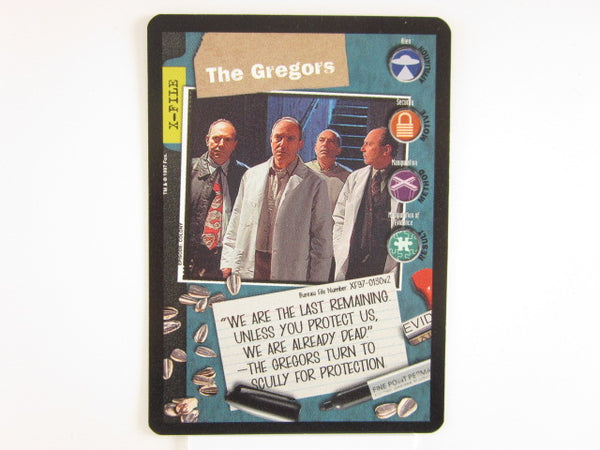 X-Files CCG The Gregors Promo 1997 Trading Card Game Unplayed