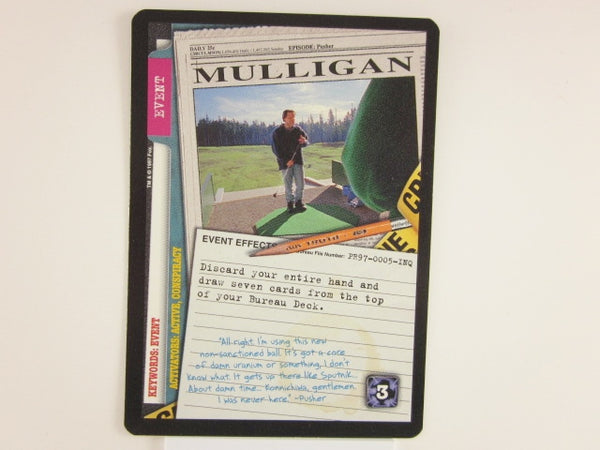 X-Files CCG Mulligan Promo 1997 Trading Card Game Unplayed