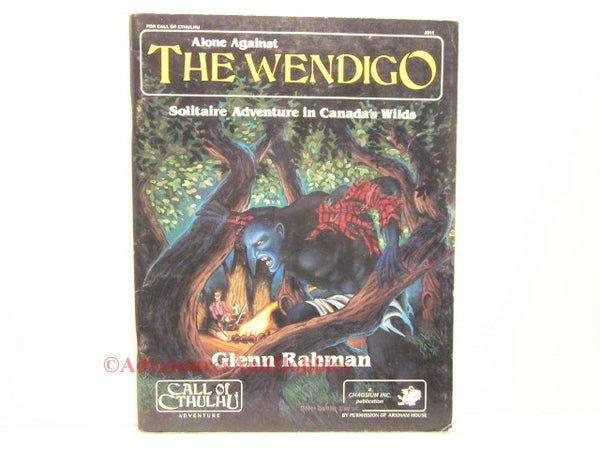 Call of Cthulhu Alone Against the Wendigo Solo Adventure Chaosium 2311 1985 CU-S