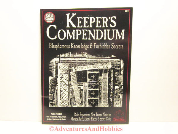 Call of Cthulhu Keeper's Compendium Horror Lovecraft Chaosium 2344 1993 ATm