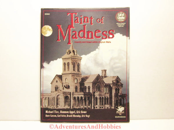 Taint of Madness an insanity sourcebook for the Call of Cthulhu horror role-playing game by Chaosium.