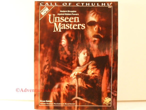 Call of Cthulhu Unseen Masters Chaosium 2384 1st Printing 2001