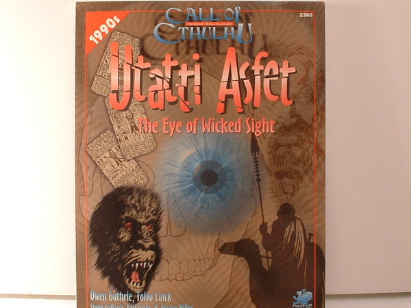Call of Cthulhu Utatti Asfet Chaosium H P Lovecraft New OOP HB Horror