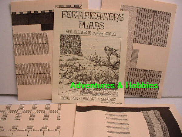 Miniature Wargames Fortifications Plans 25mm FGU 1979 New H7