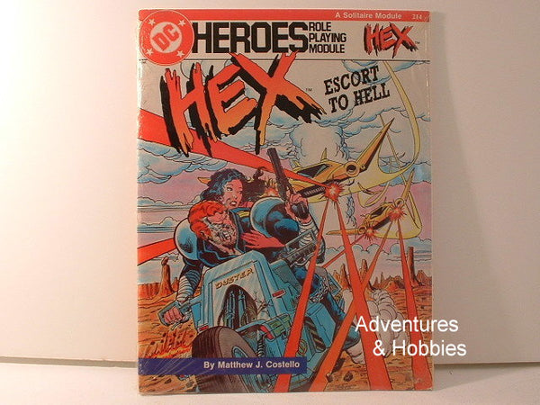 DC Heroes HEX Escort Solitaire Module OOP New B6 Mayfair Games Super