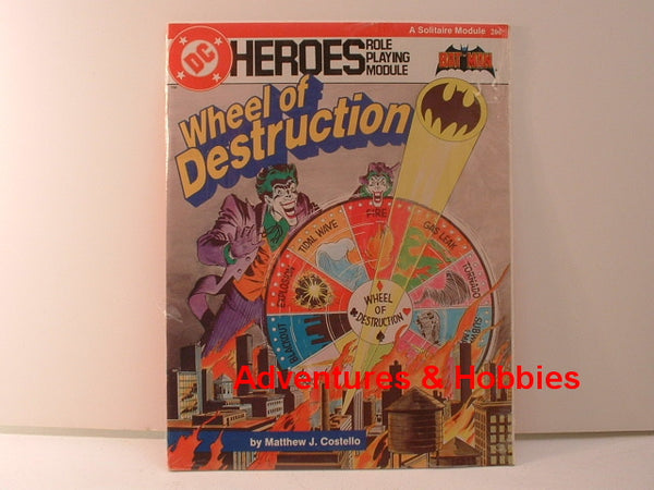 DC Heroes RPG Wheel of Destruction Batman Solo Adventure New G6