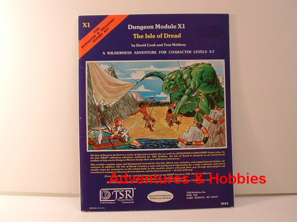 D&D Expert Adventure The Isle of Dread TSR 1981 OOP GC