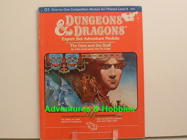 D&D Expert The Gem and The Staff OOP TSR 1983 G7 Fantasy RPG