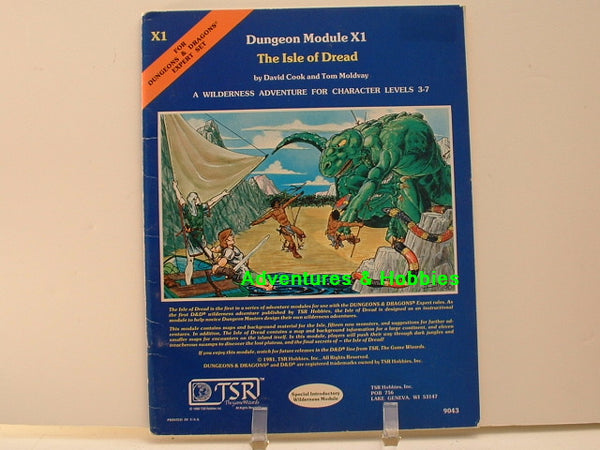 D&D Expert Adventure Isle of Dread TSR 1981 Fantasy RPG OOP D8