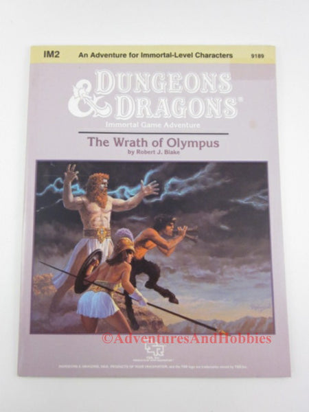 D&D Wrath of Olympus Adventure Module IM2 TSR 1987 Dungeons Dragons CQ
