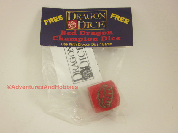 Dragon Dice Red Dragon Champion Dice Promotional Die TSR Fantasy Dice Game co