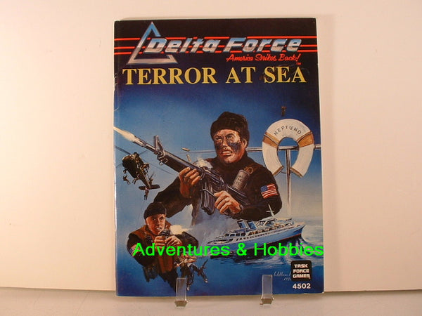 Delta Force Terror at Sea Task Force Games 1986 OOP New A8 Modern