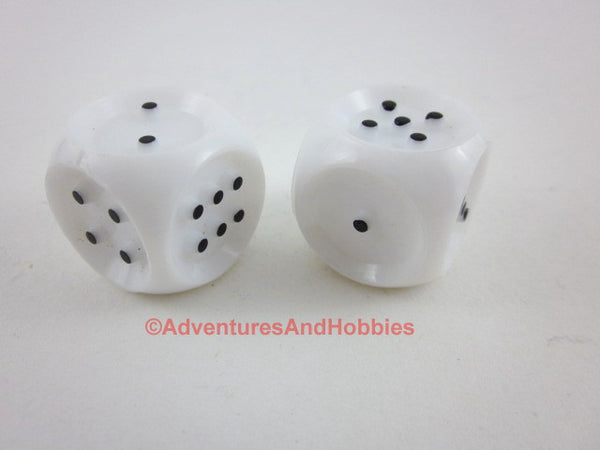 Braille Vision Impaired D6 Dice One Pair Six Sided 1 to 6 Raised Pips 20mm Set of 2