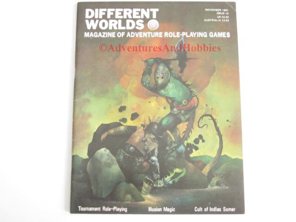 Different Worlds Magazine #16 1981 Chaosium Fantasy Trip RuneQuest