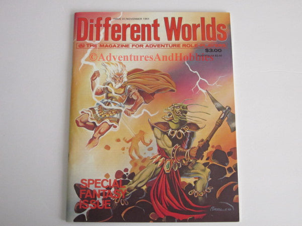 Different Worlds Magazine #31 1983 Chaosium Fantasy Issue