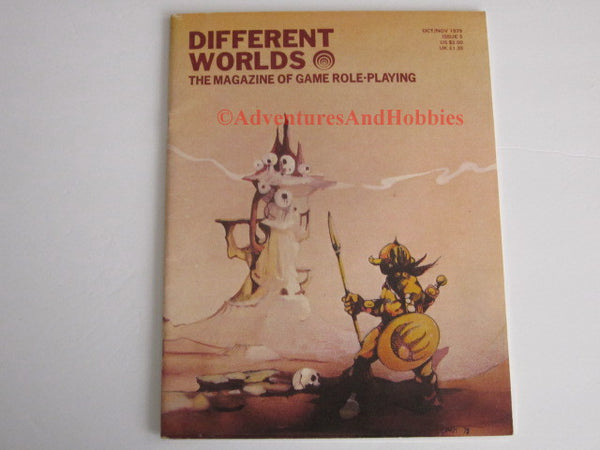 Different Worlds Magazine #5 1979 Chaosium Fantasy RuneQuest