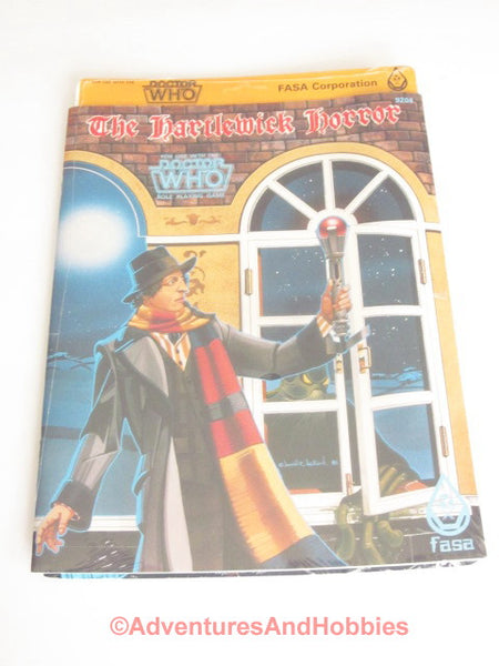 Doctor Who The Hartlewick Horror Adventure Sealed Shrink FASA 9204 1985 RPG DThS