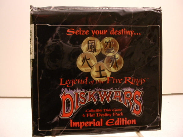 Diskwars Legends of the Five Rings Booster Pack OOP AC Sealed