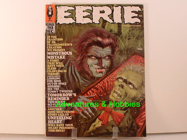 Eerie #19 Warren Sci Fi Horror Stoker Monster Magazine K7