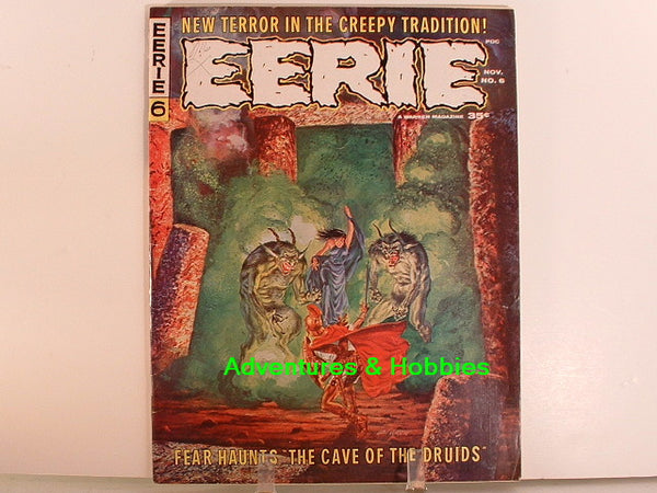 Eerie #6 Warren 1966 Sci Fi Horror Monster Magazine A8