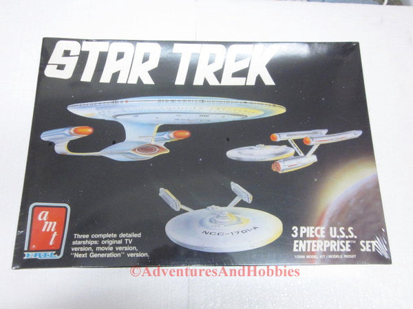 Star Trek USS Enterprise 3 Ship Set Model Kit AMT Ertl 6618 OOP EB 1/2500